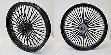 DNA MAMMOTH FAT 52 BLACK SPOKE 21x3.5 / 18x5.5 WHEELS DYNA STREET BOB HARLEY