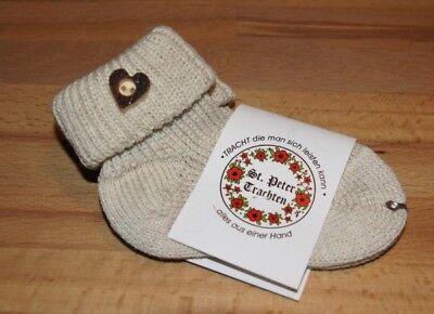 KIDSTRACHT Socken Trachtensocken Gr 15-42 Socken natur m Edelweiß z Lederhose