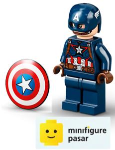 sh736 Lego Super Heroes Avengers 76189 - Captain America Minifigure w Shield New