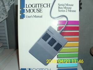 Vintage-Logitech-Mouse-User-039-s-Manual-Serial-Bus-Series-2-Mouse