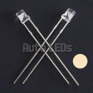 5 X Luminoso Bianco 5mm diodi LED highquality