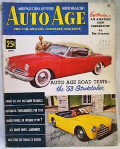 Image Is Loading AUTO AGE MAGAZINE JUNE 1953 VINTAGE AUTOMOBILE CAR