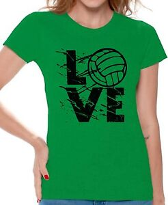 LOVE-Volleyball-Women-039-s-T-shirt-Tops-Volleyball-Gifts-Game-Day