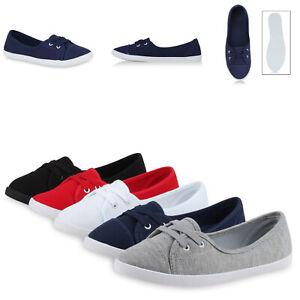 c2e881df682262 Das Bild wird geladen Damen-Sneakers-Ballerinas-Slipper-Stoffschuhe -Flats-71075-Gr-