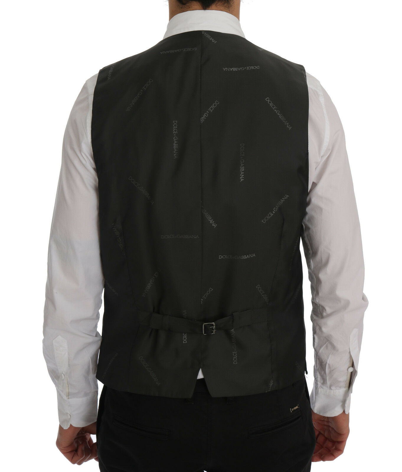 NEW  & 360 DOLCE &  GABBANA STAFF Vest Waistcoat Gris Lana Stretch IT50 / US40 / L 935785