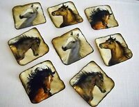 Horse Appliques Fabric Iron On Set Of 8 98