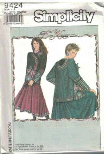 9424 UNCUT Vintage Simplicity SEWING Pattern Misses Daisy Kingdom Lined Jacket