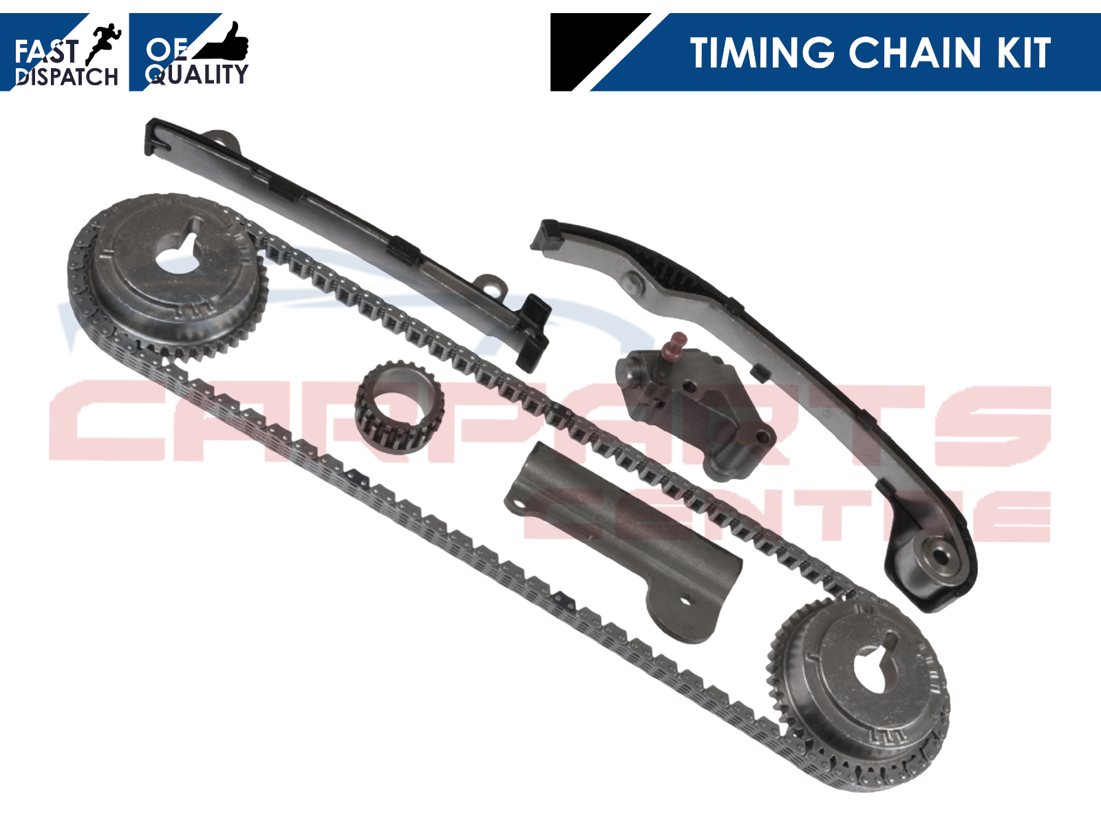 FOR NISSAN ALMERA TINO 1.8 2002 TIMING CHAIN KIT TENSIONER GUIDE RAIL SPROCKETS