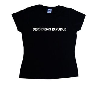 Dominican-Republic-text-Ladies-T-Shirt