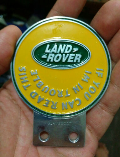 Land Rover Series 1 2 A CLUB BADGE VINTAGE CLASSIC PARTS FOR SALE FUNNY 2a one