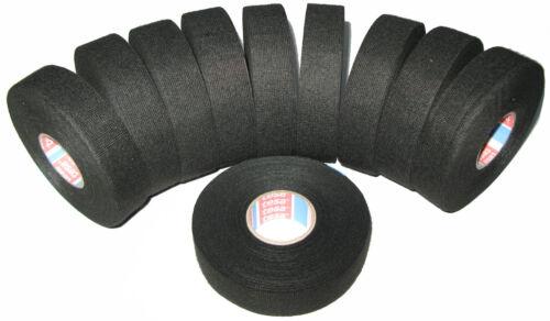 10x TESA kfz Gewebeband mit Vlies 51608 25mm x 25m Klebeband Isoband MwSt DHL