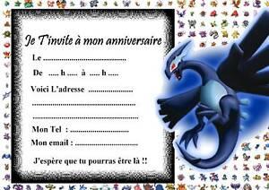 5 cartes invitation anniversaire pokemon 011 ebay - Imprimer une carte pokemon ...