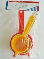 Kitchenette 3 Piece Strainer Set - Small, Medium And Large - Multi Purpose