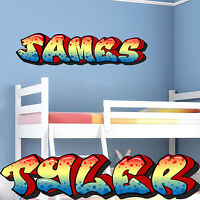 Personalised Graffiti Nursery Bedroom Wall Sticker Decal Graphic Mural