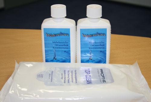 2 X Waterclean Conditioner + Salviette Cura Luminoso E Traslucido Nell'Apparenza