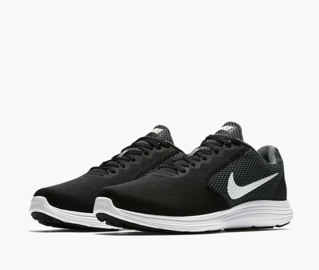 quality design b18b5 5f567 Nike Revolution 3 Wide (4E) Running Shoes Black Gray White 819301-001 Men's  NEW