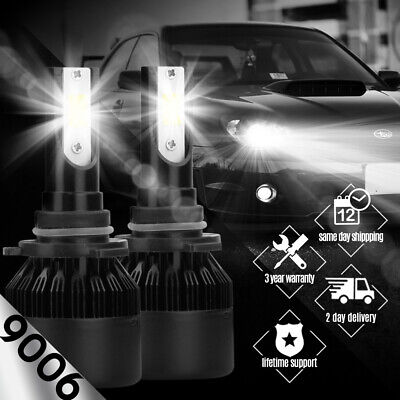 AUTOVIZION LED HID Headlight kit 9006 White for 1992-1997 Ford Crown Victoria