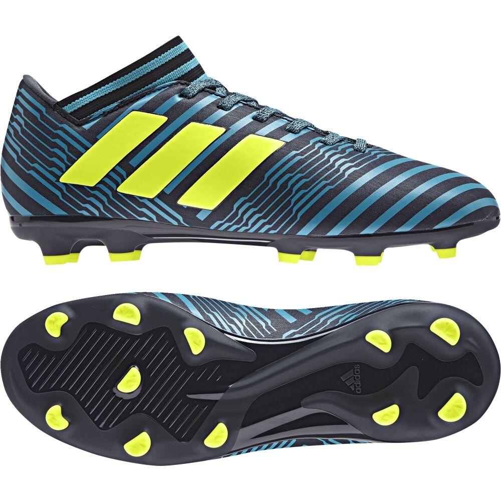 Adidas NEMEZIZ 17.3 FG J Kinder Fußballschuh S82427 dunkelblue-yellow-mint