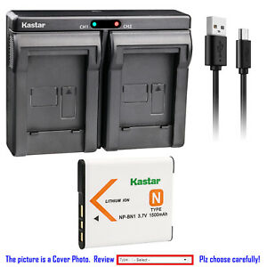 Kastar-Battery-Dual-Charger-for-Sony-NP-BN1-BC-CSN-amp-Sony-Cyber-shot-DSC-TX5