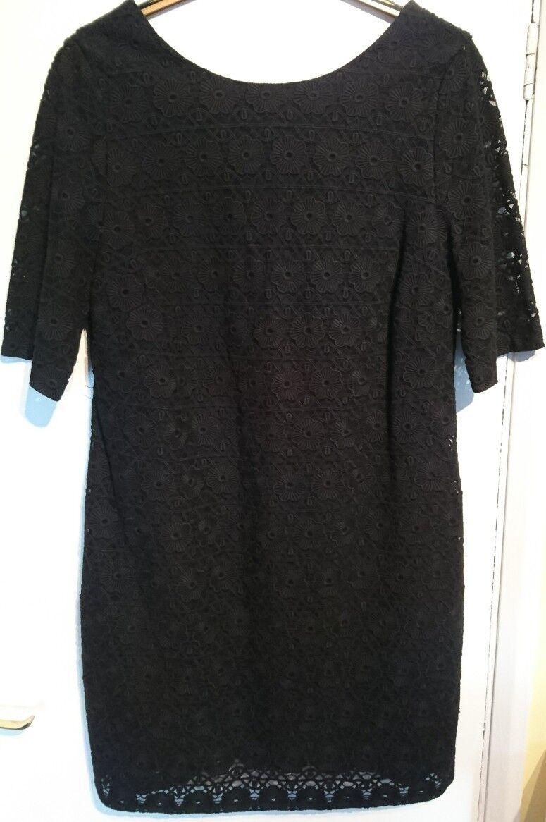 Monsoon Flora Linear schwarz Lace Shift Dress Bnwt Floral Design Lined