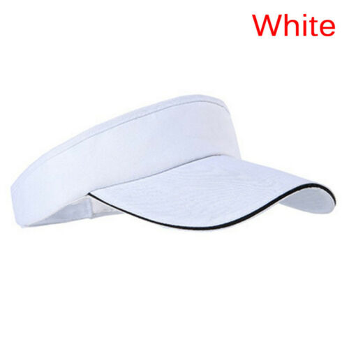 AdjustableUnisex Men Women PlainSun Visor SportGolf Tennis Breathable Caps HatXJ