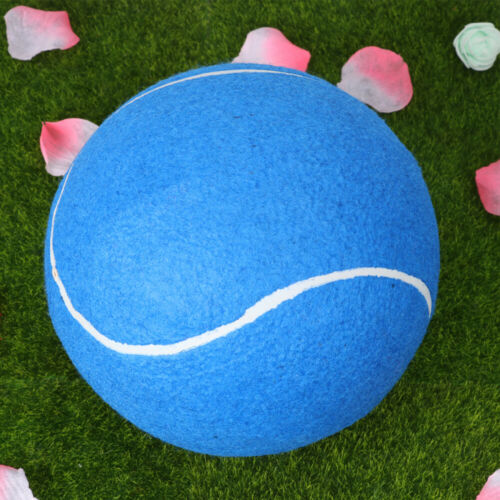 1pc 20cm Inflatable Flannel Ball Large Signature Tennis Rubber Ball for Children