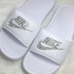 ce3762ba24b Image is loading Nike-Slides-Custom-with-Swarovski-Crystals-Sandals -Bedazzled-