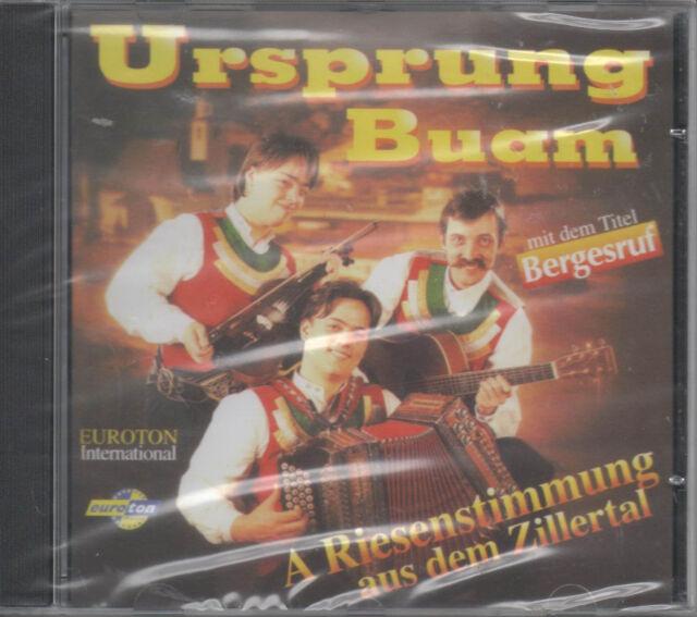 Ursprung Buam - A Riesenstimmung aus dem Zillertal CD NEU Bergesruf