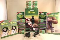Water Purification Kit 2 Filter/straw Fire Striker Bottle Carriers 400 Tablets