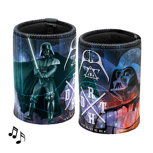 Star Wars Can Cooler Stubby Holder MUSICAL Plays Darth Vader Theme Music