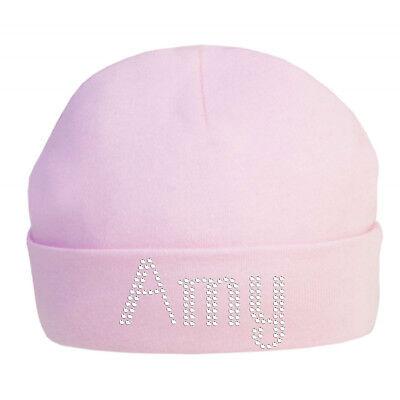 Personalizzati Baby Cotone Cappello In Cristalli 100% Cotone Super Morbido Neonato Cappello Natale-