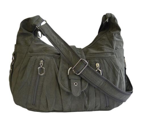 Damen Shopper Schultertasche Umhängetasche Handtasche Stofftasche Bag Crossover