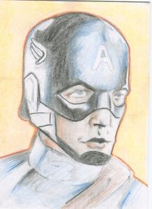 Details about Captain America Sketch Card ATC Fan Art Marvel Avengers  Reggier3mote reggie
