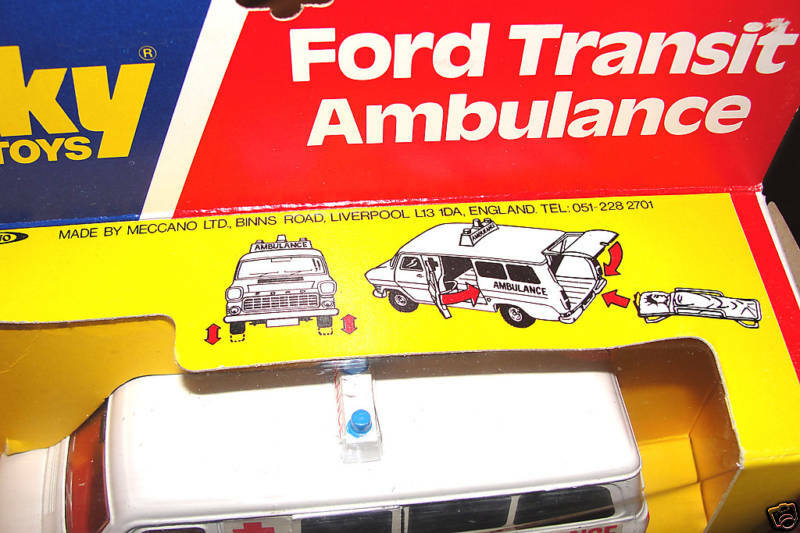 DINKEY FORD TRANSIT AMBULANCE MIB 1976 ENGLAND ENGLAND ENGLAND 9aacdb
