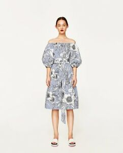 3e699491 Image is loading zara-midi-tunic-with-stripes-and-flora-print-