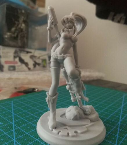 1//24 Sniper girl Resin Kits Figure Model GK Unpainted Unassembled 75mm New