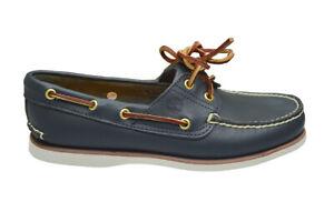 de ahora en adelante Tener un picnic fregar  Hombre Timberland Clásico Zapatos Náuticos - 74036 - Azul Marino Blanco |  eBay
