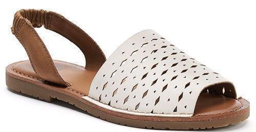 KITE WHITE Fashion Flat Slides SlipOn Sandals Dress  Shoes SZ 8 NEW Womens S.O