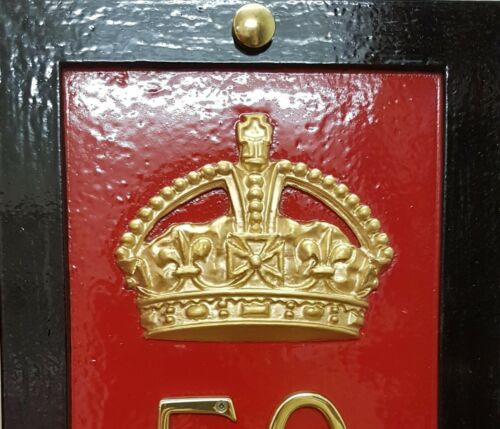 BOOTH KIOSK CAST OF ORIGINAL CROWN K6 RED TELEPHONE BOX HOUSE PLAQUE