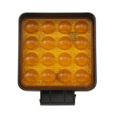 48W LED Work Light Amber 5D Optical Flood Offroad FOG Boat Lamp A Pair //27W 42W