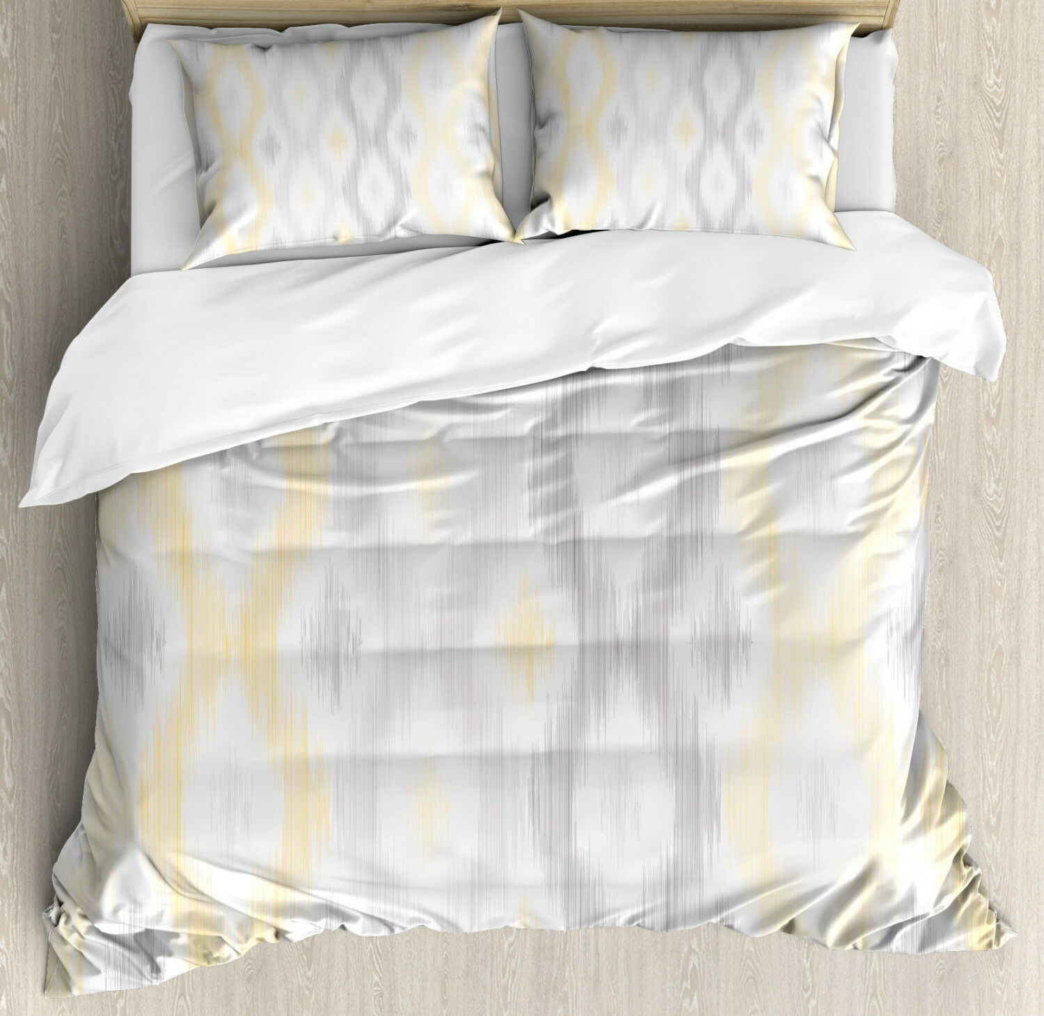 Sketchy Duvet Cover Set with Pillow Shams Abstract Chain Print