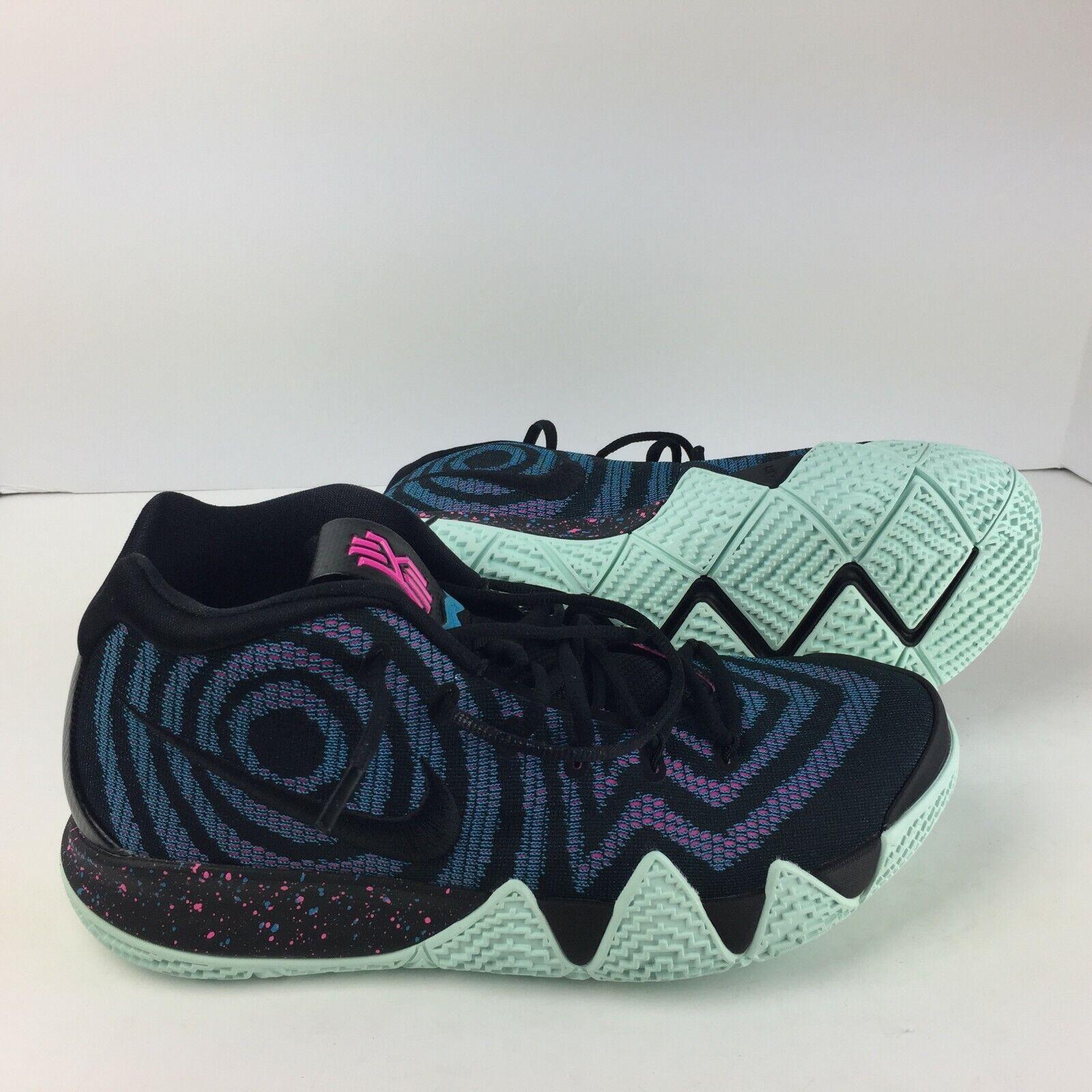 Nike Kyrie 4 Men's Basketball shoes 943806 007 Black-Black Laser Fuchsia