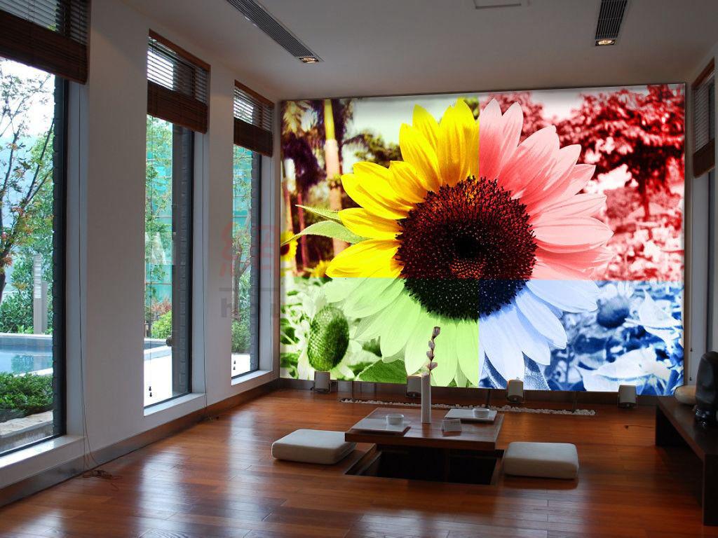 3D Farbeful Sunflower 74 Wall Paper Murals Wall Print Wall Wallpaper Mural AU