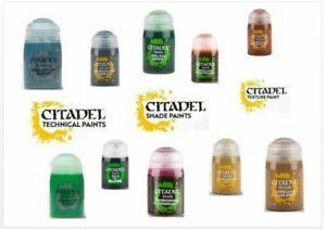 Colores-Citadel-de-24ml-Shade-Texture-Technical-Color-Modelo-Paint-Game-Workshop