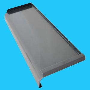 aluminium fensterbank alu blech fenstersims au en gekantet anthrazitgrau ral7016 ebay. Black Bedroom Furniture Sets. Home Design Ideas
