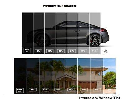 "Intersolar® 2Ply 60/""x 200FT Window Film Roll Choose the tint  5/% 15/%,20/% 35/% 50/%"