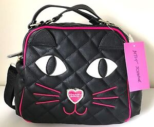 Nwt Betsey Johnson Kitsch Kitty Cat Furry Face Insulated