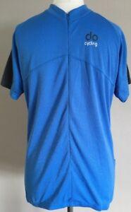 Bnwt-Mens-Do-Cycling-Blue-Pocket-Short-Sleeve-Half-Zip-Top-Shirt-Size-Medium