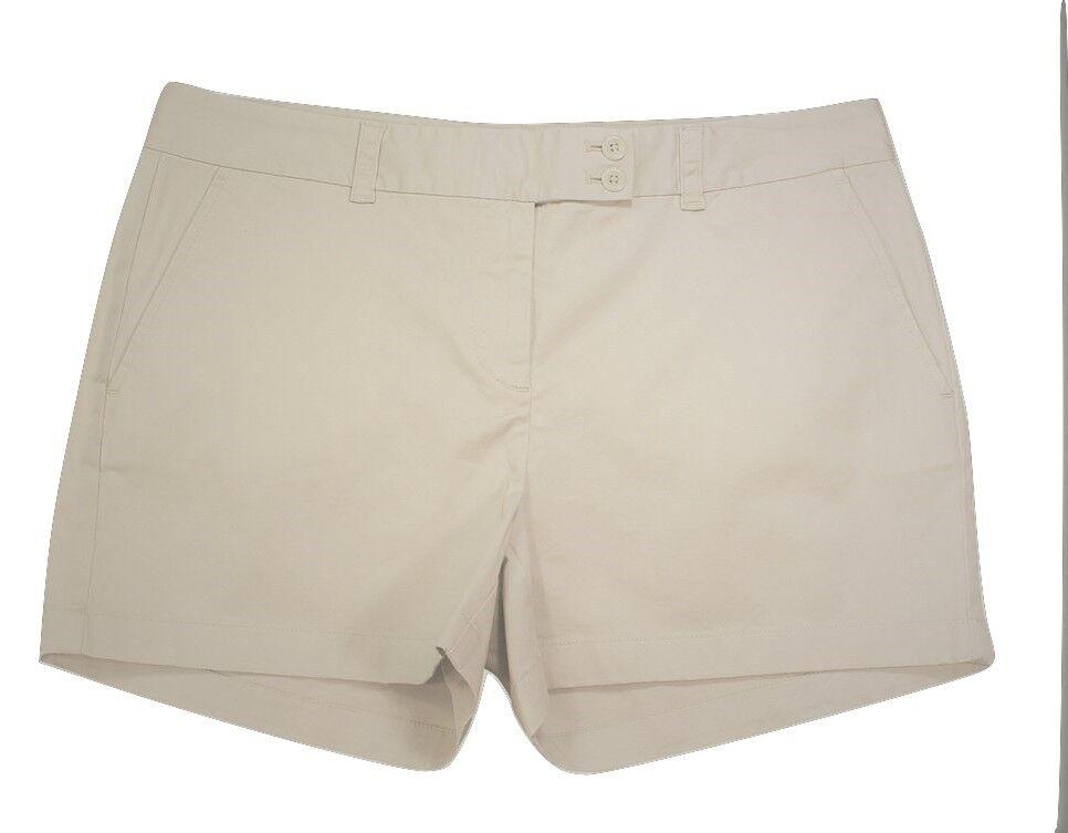 Vineyard Vines Women's Dayboat Classic Shorts Stone 3.5  Inseam  Size 14