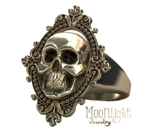 New Skull Gold Antique Victorian Ghost Gothic Mens Womens Punk Ring